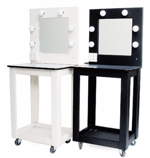 Picture of Makeup Table - Black Wood