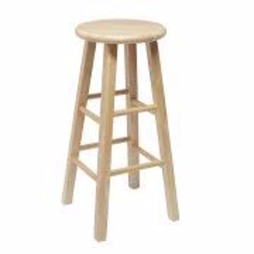 Picture of Chair - Bar Stool Natural Wood