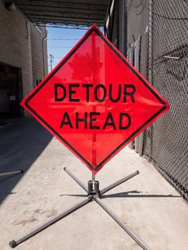 Picture of Road Sign - Detour Ahead