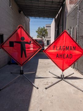 Picture of Road Sign - Flagmen Ahead