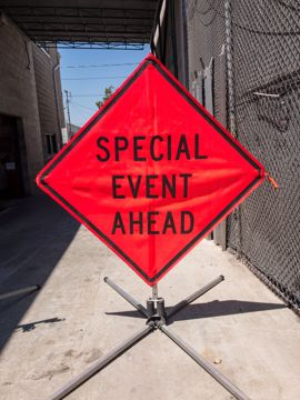 Picture of Road Sign - Special Event Ahead