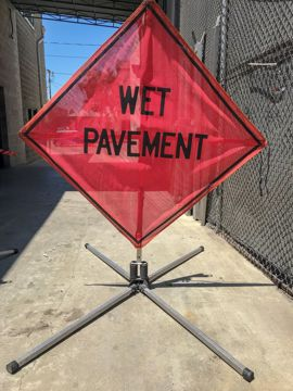 Picture of Road Sign - Wet Pavement Ahead