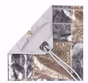 Picture of Lamay - 12' X 12'  Silver / Gold Checkerboard