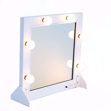 Picture of Make-Up Mirror - White Metal