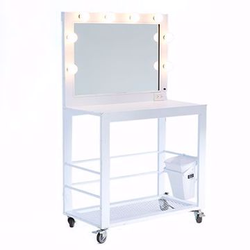 Picture of Make-Up Table - White Deluxe Metal