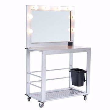 Picture of Make-Up Table - Silver Deluxe Metal