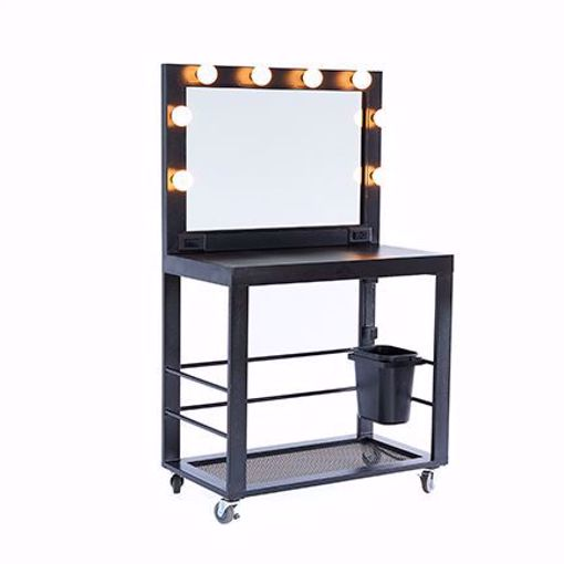 Picture of Makeup Table - Black Deluxe Metal