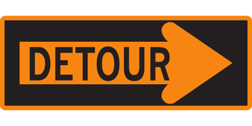 Picture of Detour Sign - Metal