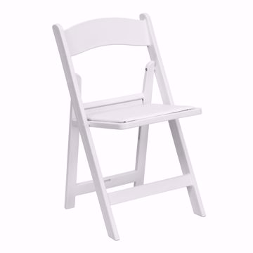 Picture of Chair - White Padded Folding Chairs